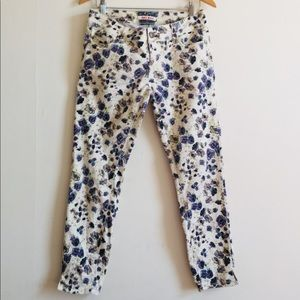 Hot Kiss printed floral jeans
